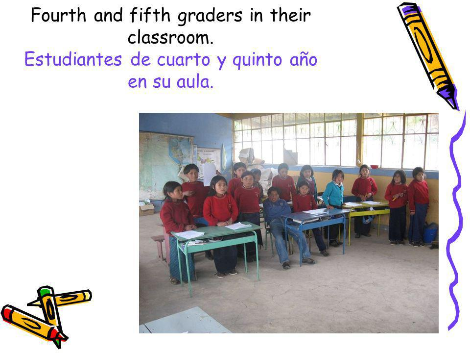 Fourth and fifth graders in their classroom