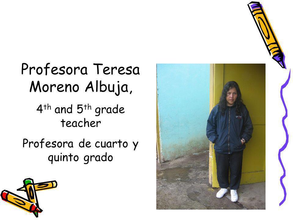 Profesora Teresa Moreno Albuja,