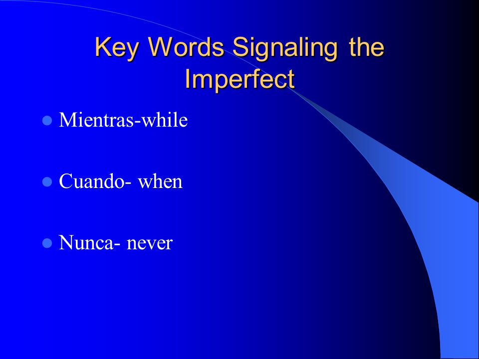 Key Words Signaling the Imperfect