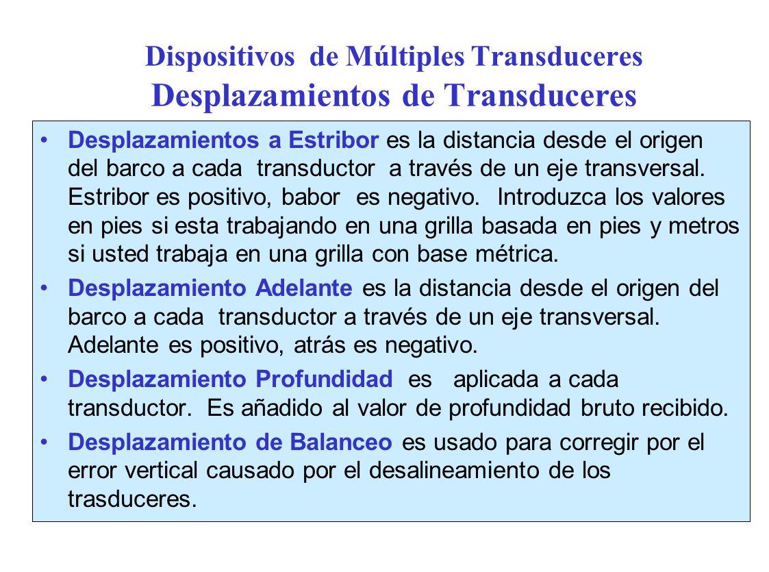 Dispositivos de Múltiples Transduceres Desplazamientos de Transduceres