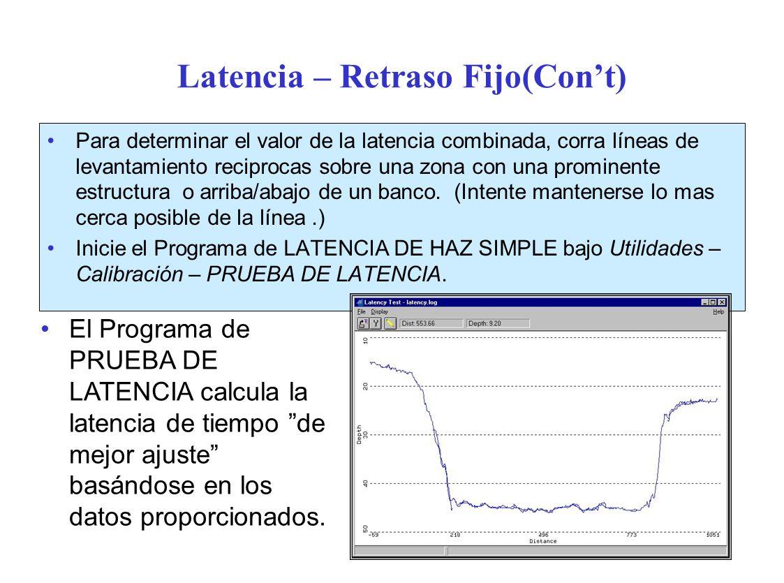 Latencia – Retraso Fijo(Con't)