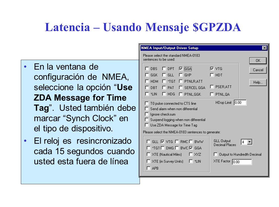 Latencia – Usando Mensaje $GPZDA