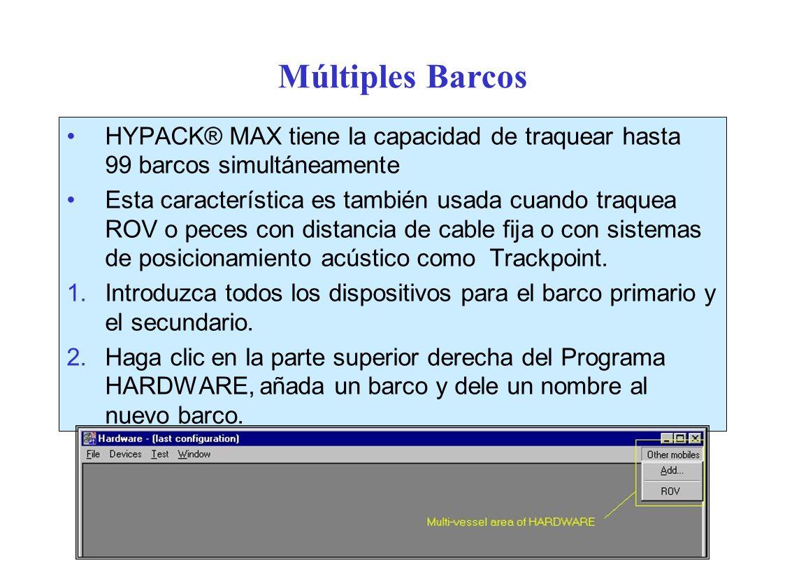 Múltiples Barcos HYPACK® MAX tiene la capacidad de traquear hasta 99 barcos simultáneamente.