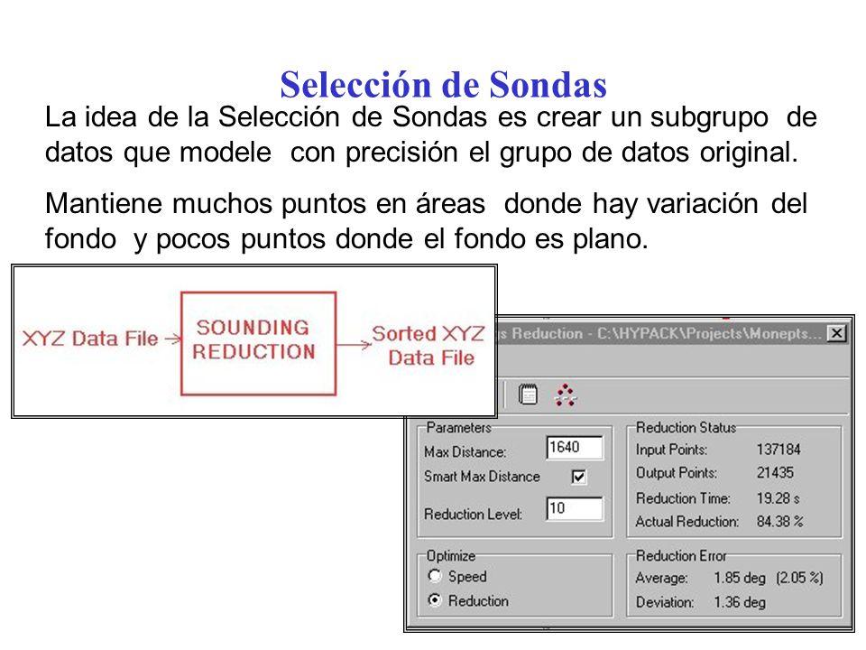 Selección de Sondas La idea de la Selección de Sondas es crear un subgrupo de datos que modele con precisión el grupo de datos original.