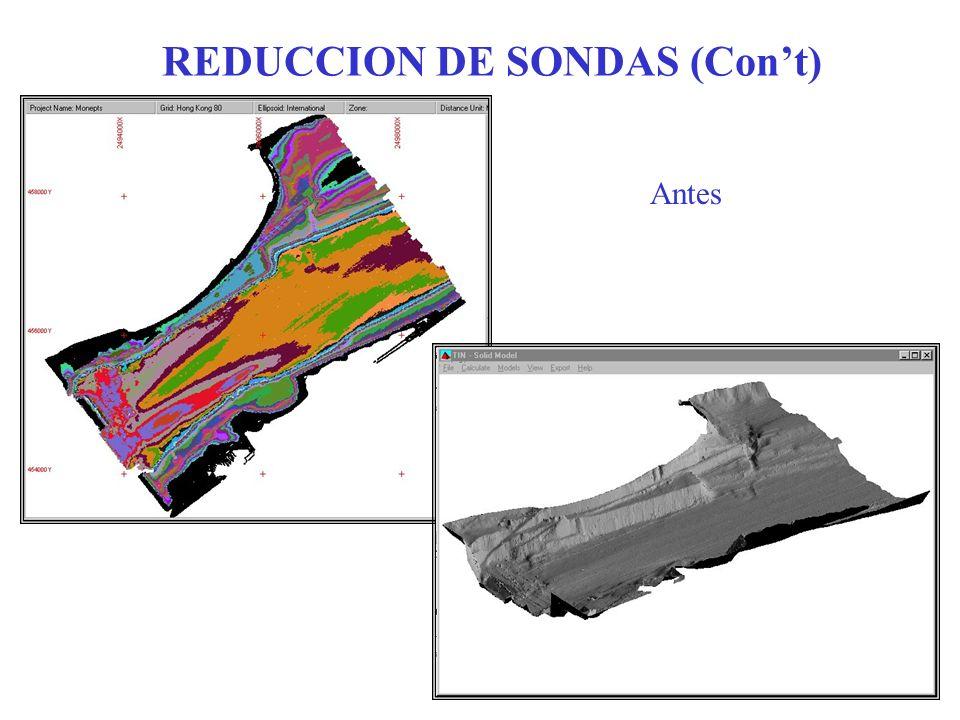 REDUCCION DE SONDAS (Con't)