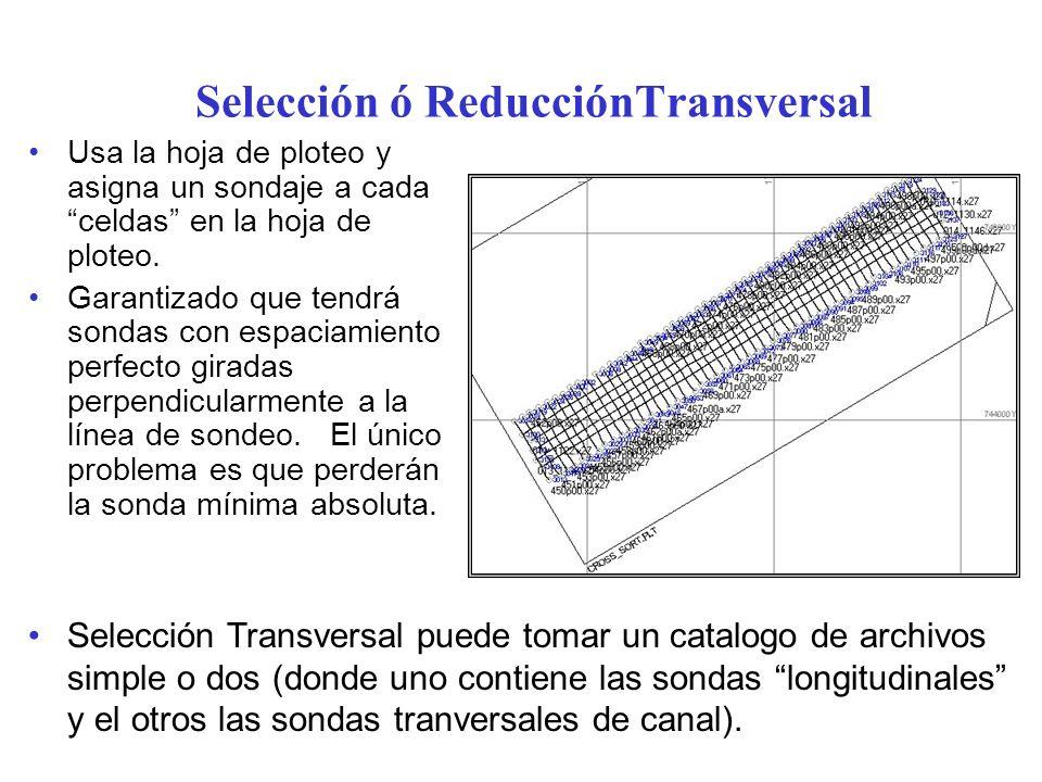 Selección ó ReducciónTransversal