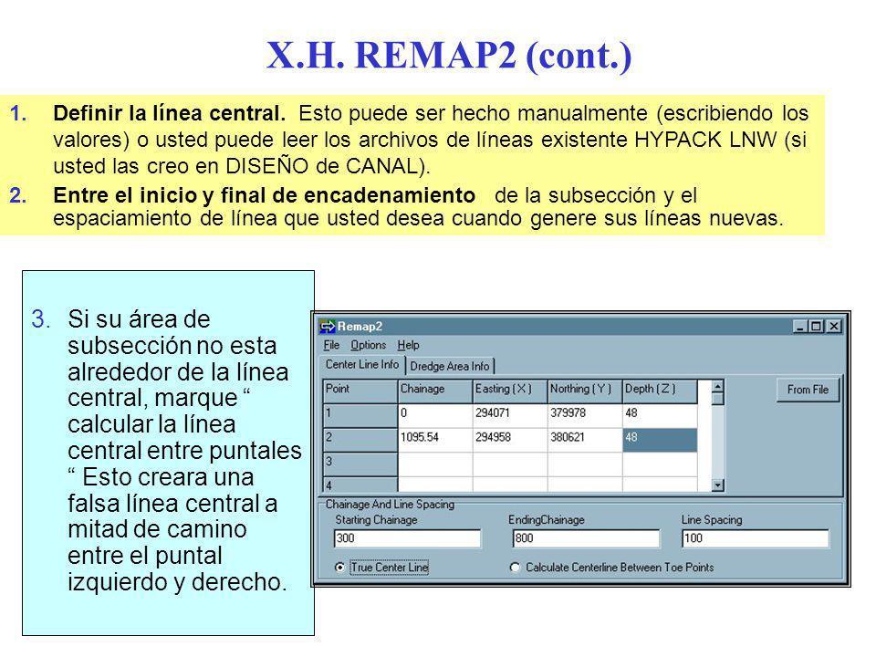 X.H. REMAP2 (cont.)