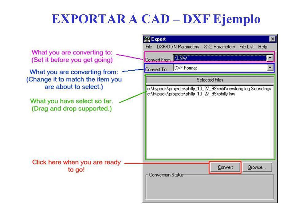 EXPORTAR A CAD – DXF Ejemplo