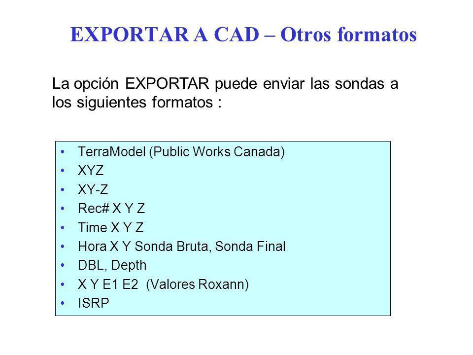 EXPORTAR A CAD – Otros formatos