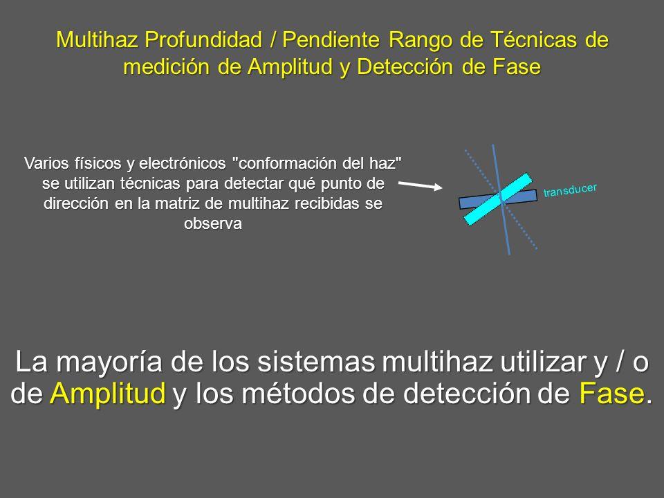 Multihaz Profundidad / Pendiente Rango de Técnicas de medición de Amplitud y Detección de Fase