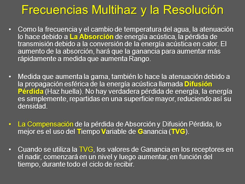 Frecuencias Multihaz y la Resolución