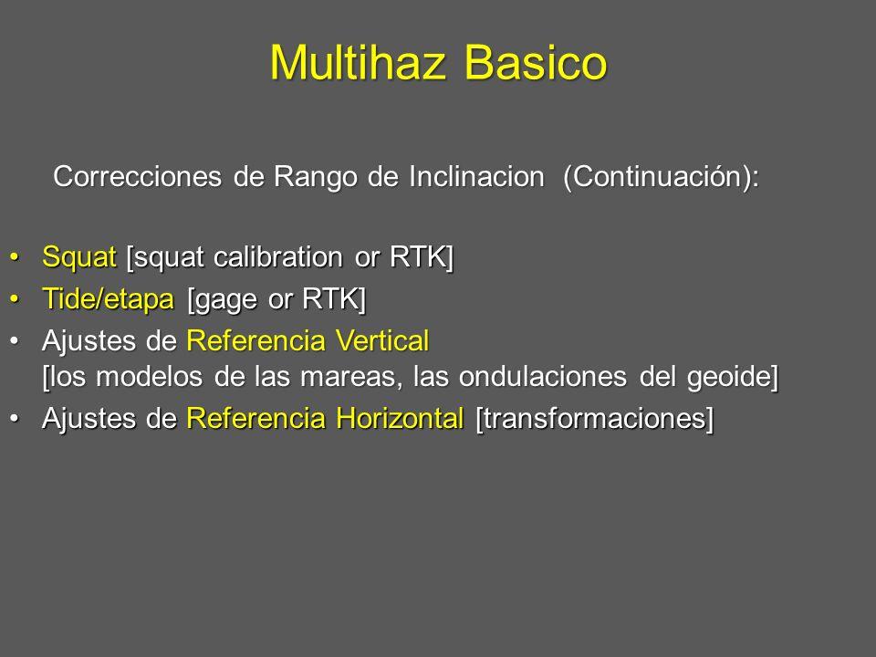 Multihaz Basico Correcciones de Rango de Inclinacion (Continuación):