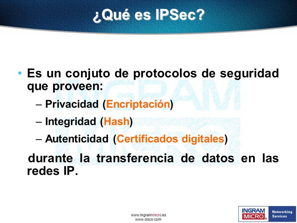 ¿Qué es IPSec Es un conjuto de protocolos de seguridad que proveen: