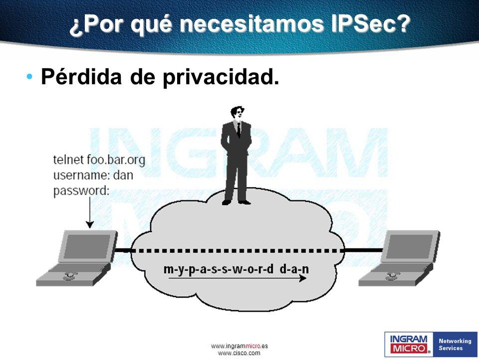 ¿Por qué necesitamos IPSec