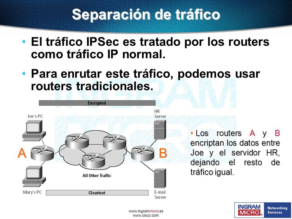 Separación de tráfico A B