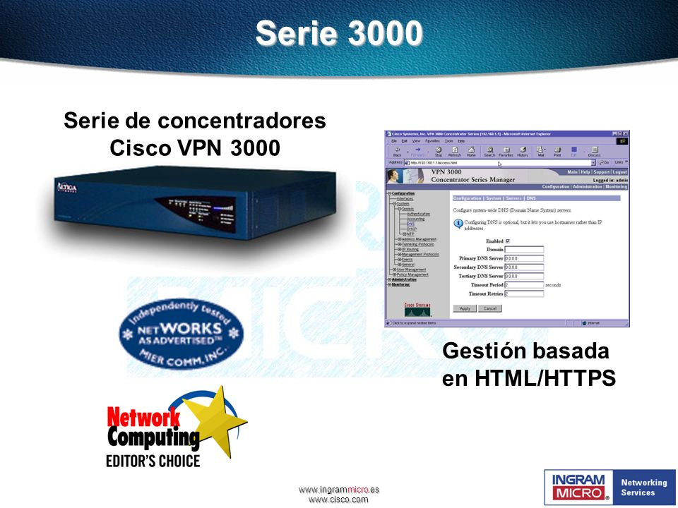 Serie de concentradores Cisco VPN 3000