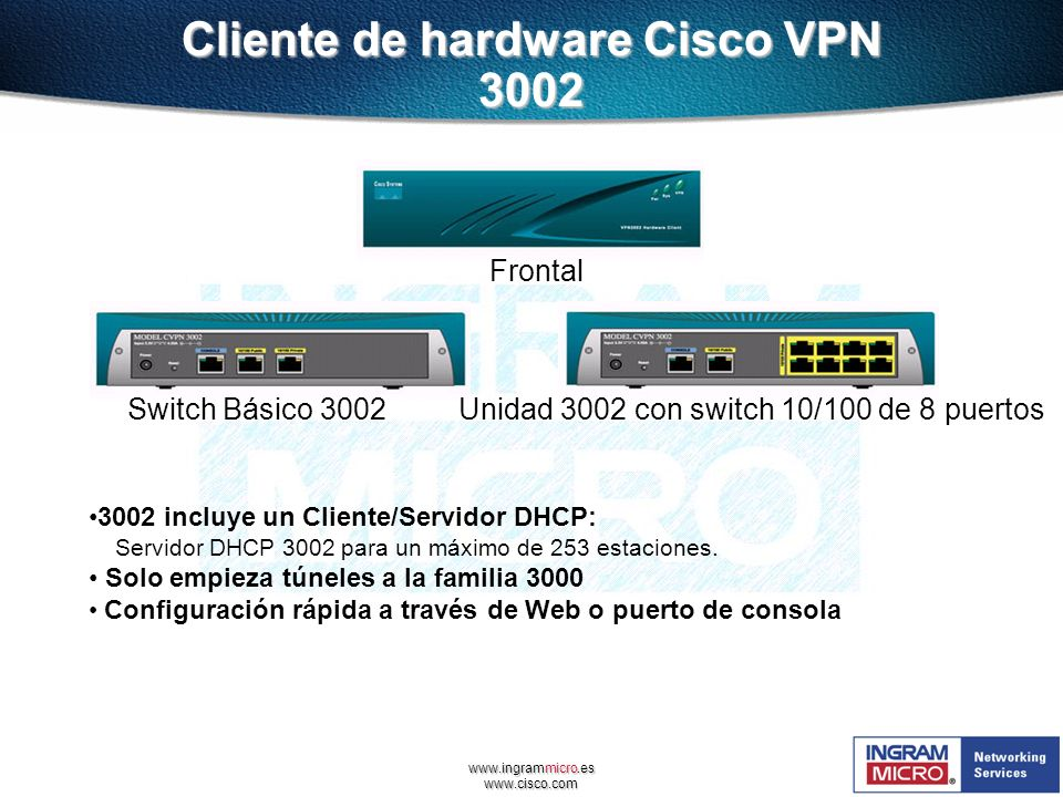 Cliente de hardware Cisco VPN 3002