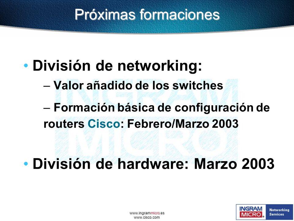 División de networking: