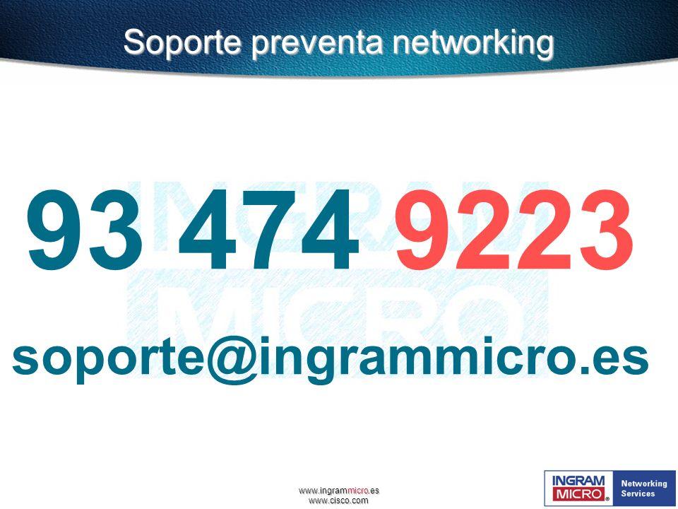 Soporte preventa networking