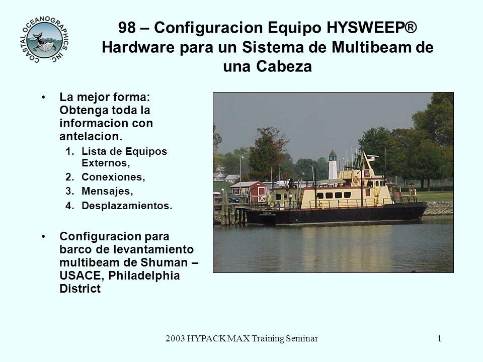 2003 HYPACK MAX Training Seminar