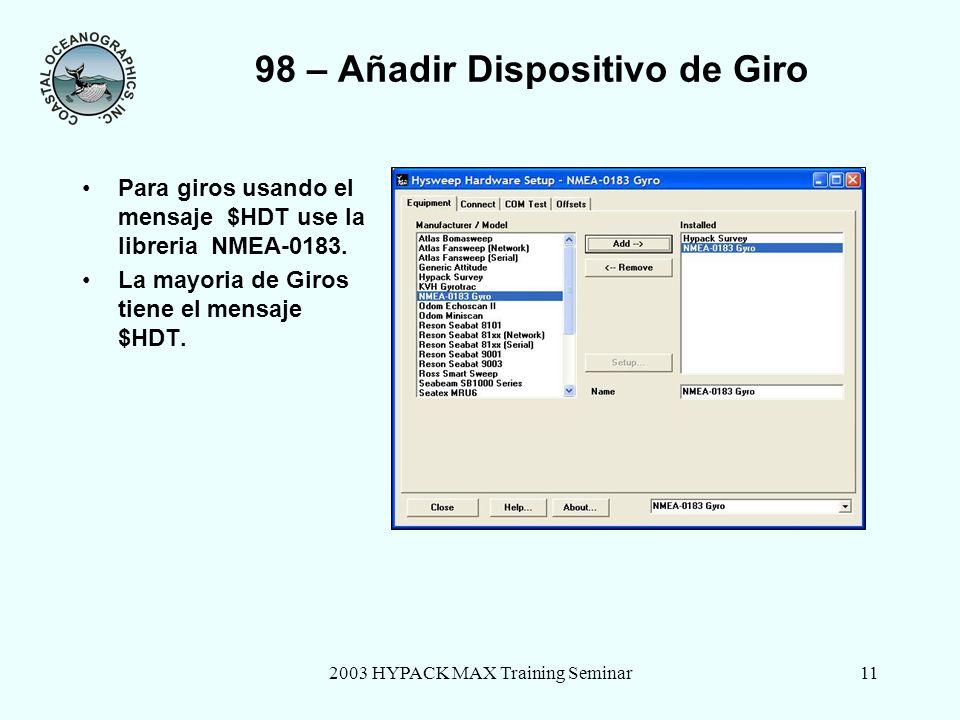 98 – Añadir Dispositivo de Giro