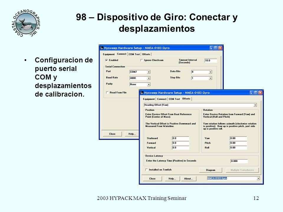 98 – Dispositivo de Giro: Conectar y desplazamientos