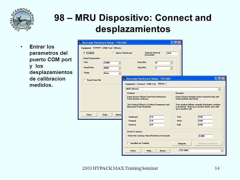 98 – MRU Dispositivo: Connect and desplazamientos
