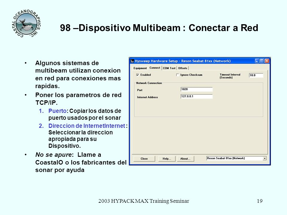 98 –Dispositivo Multibeam : Conectar a Red