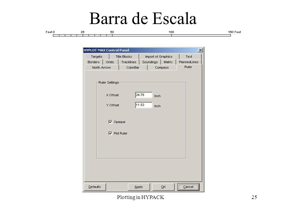 Barra de Escala Plotting in HYPACK