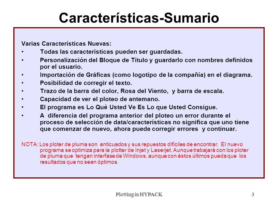Características-Sumario
