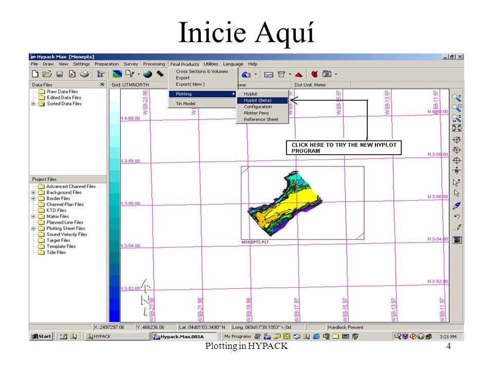 Inicie Aquí Plotting in HYPACK