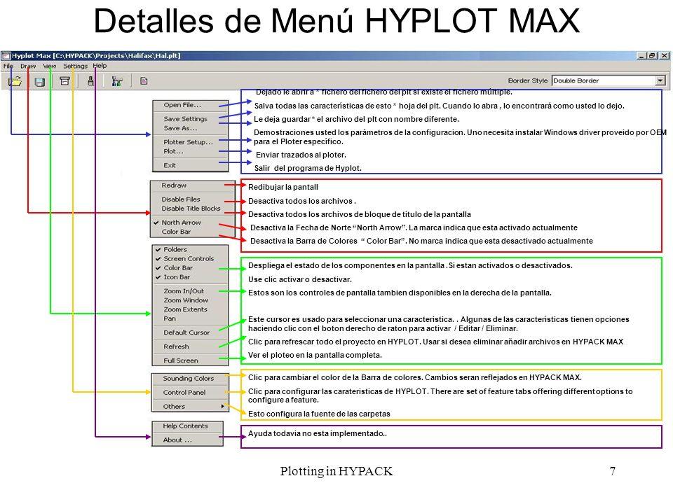Detalles de Menú HYPLOT MAX