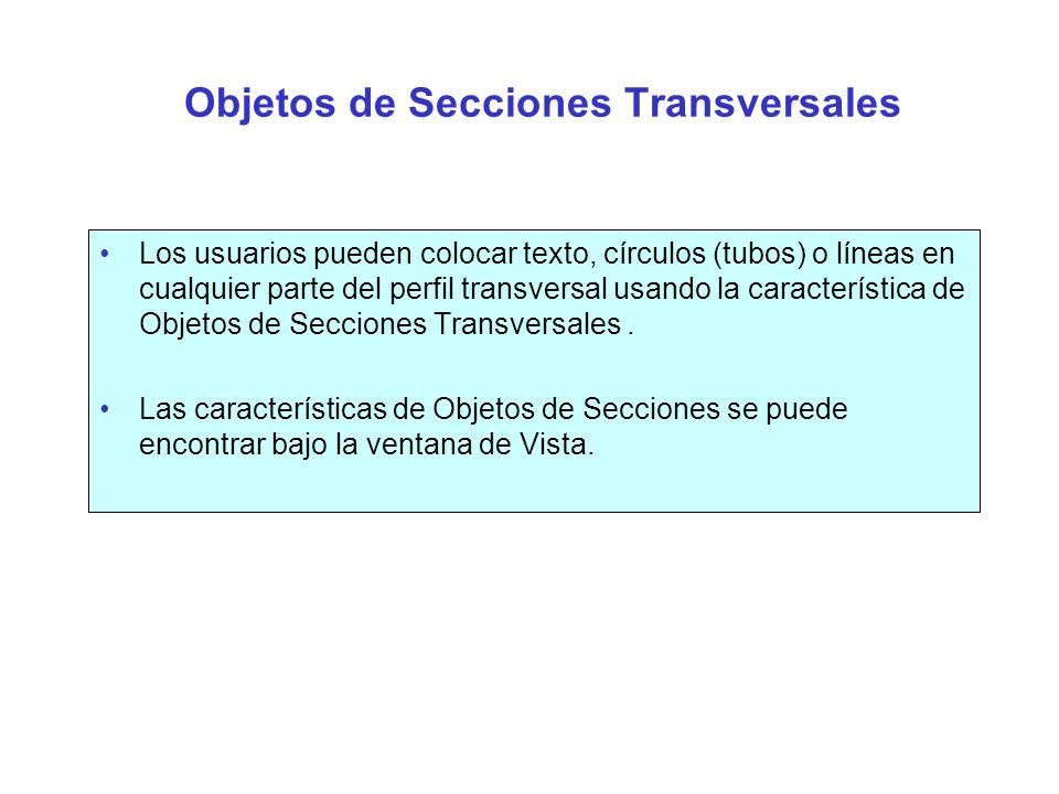 Objetos de Secciones Transversales