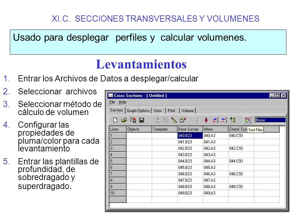XI.C. SECCIONES TRANSVERSALES Y VOLUMENES