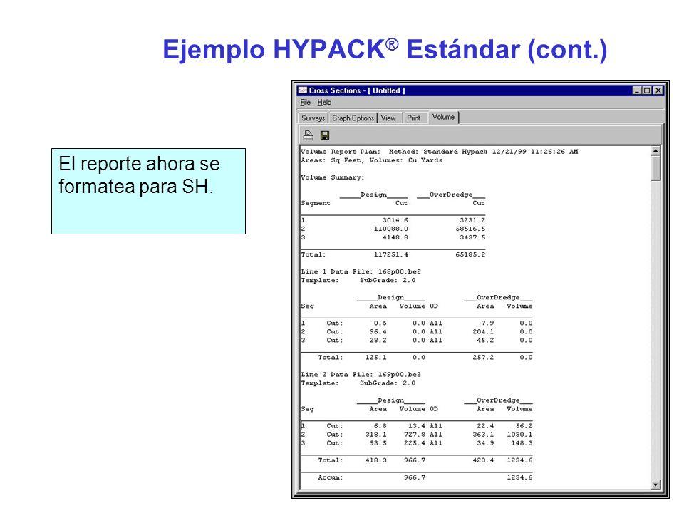 Ejemplo HYPACK® Estándar (cont.)