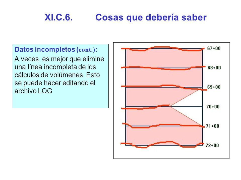 XI.C.6. Cosas que debería saber