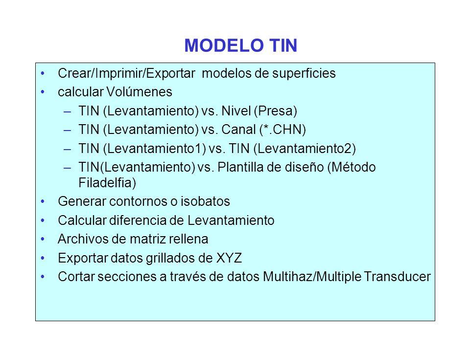 MODELO TIN Crear/Imprimir/Exportar modelos de superficies
