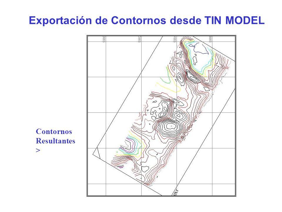 Exportación de Contornos desde TIN MODEL