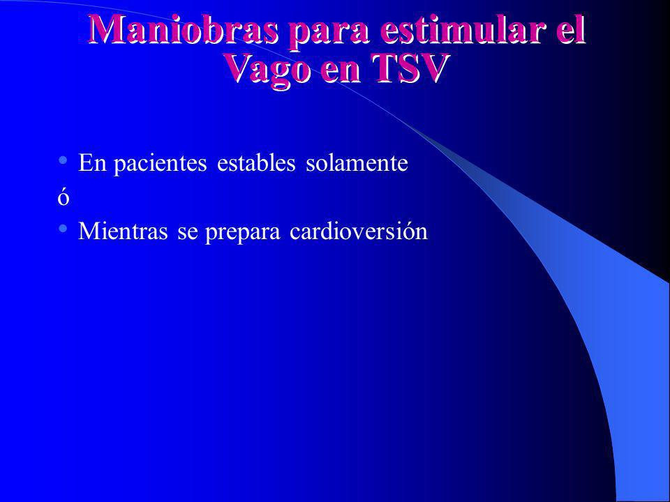 Maniobras para estimular el Vago en TSV