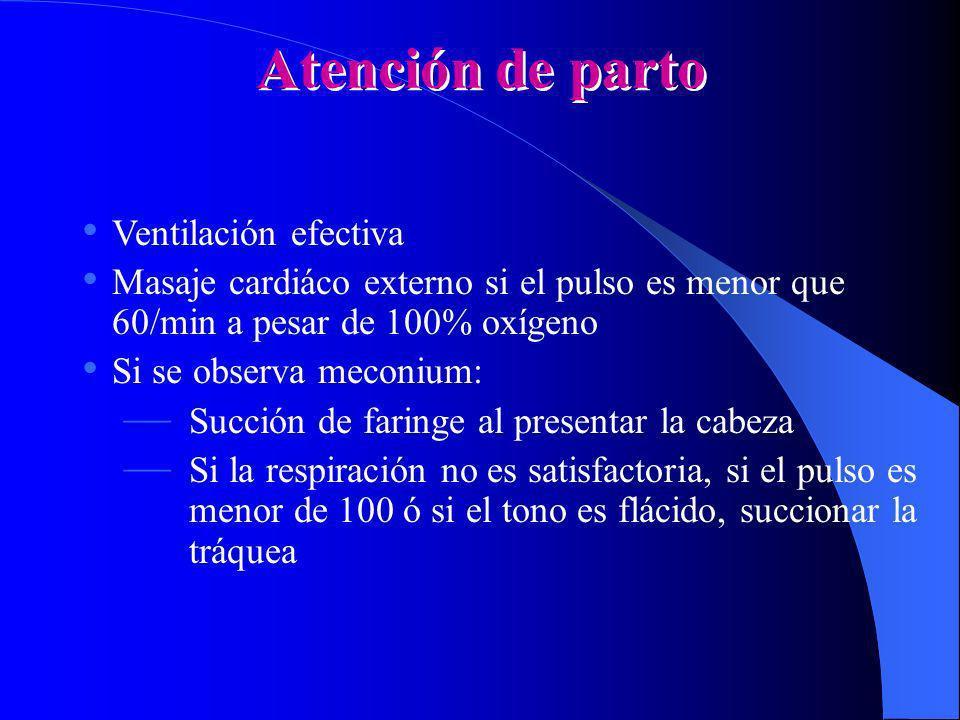 Atención de parto Ventilación efectiva