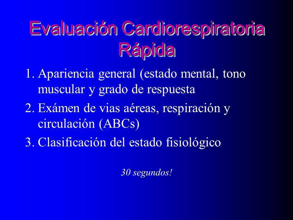 Evaluación Cardiorespiratoria Rápida