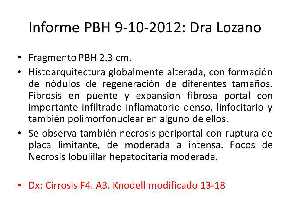 Informe PBH 9-10-2012: Dra Lozano