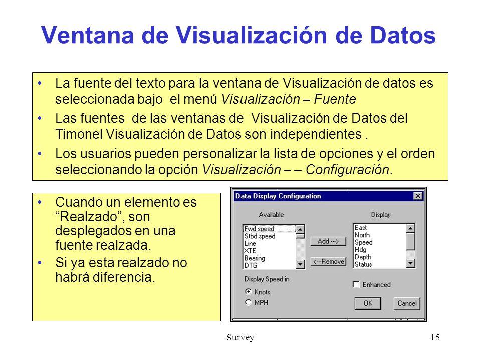 Ventana de Visualización de Datos