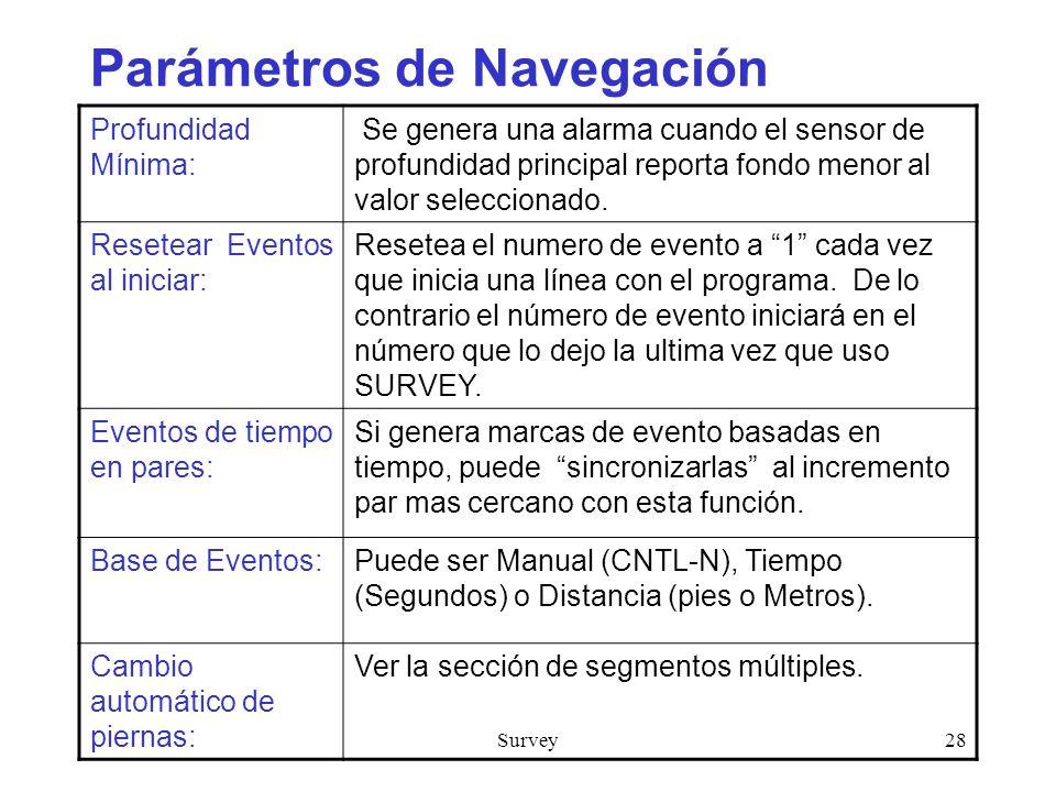 Parámetros de Navegación