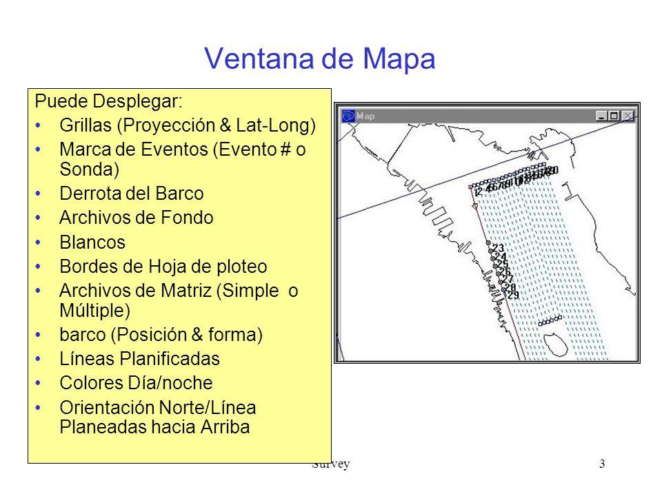 Ventana de Mapa Puede Desplegar: Grillas (Proyección & Lat-Long)