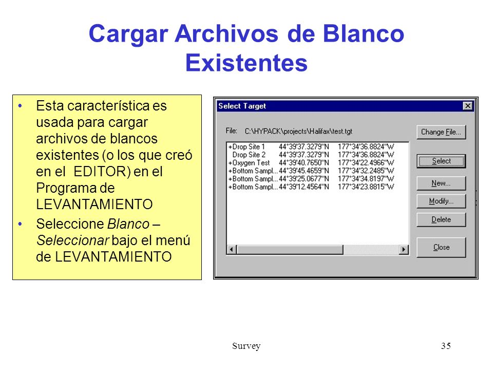 Cargar Archivos de Blanco Existentes