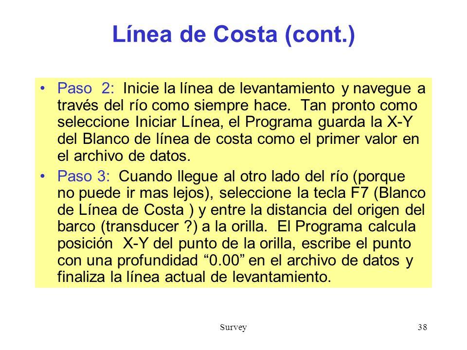 Línea de Costa (cont.)