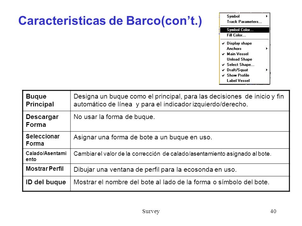 Caracteristicas de Barco(con't.)