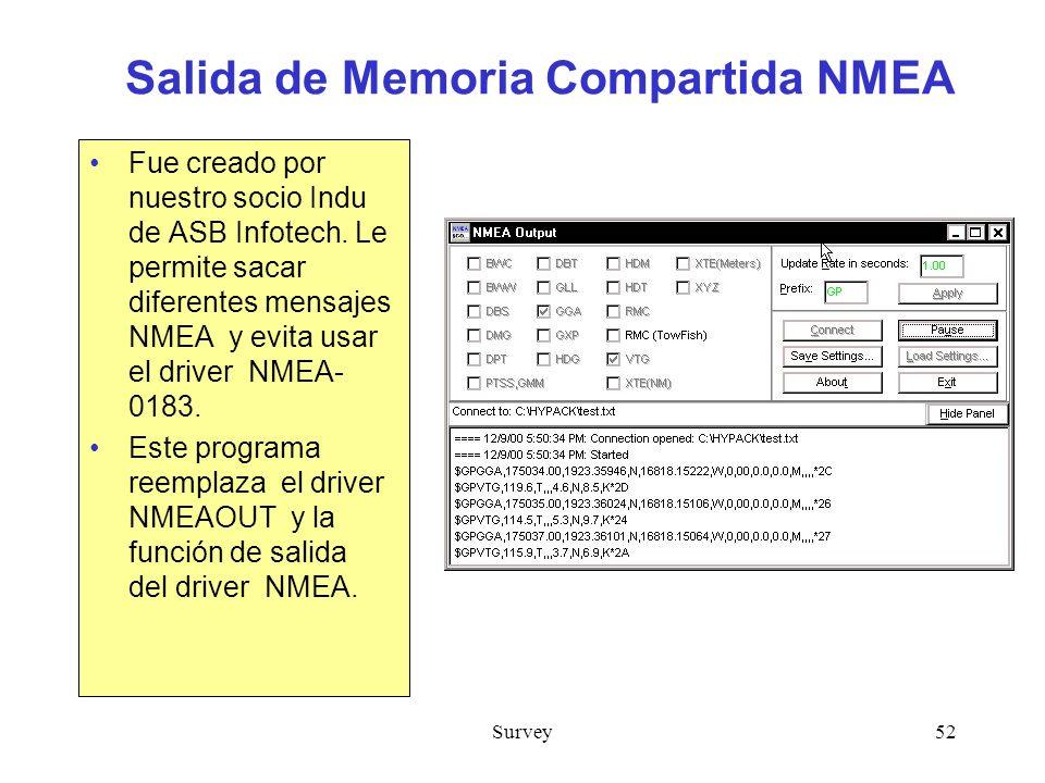 Salida de Memoria Compartida NMEA