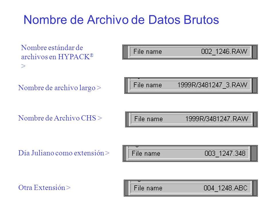 Nombre de Archivo de Datos Brutos